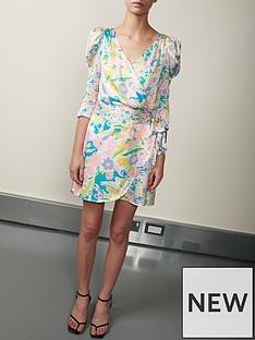 olivia-rubin-ren-neon-floral-wrap-mini-dress-multi