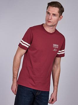 barbour-international-steve-mcqueen-double-stripe-t-shirt-maroon