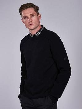 barbour-international-rib-sleeve-crew-neck-jumper-black