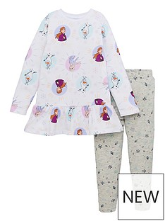 disney-frozen-girlsnbsp2-piece-frill-dress-and-legging-set-white