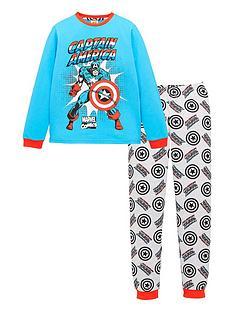 marvel-boysnbspcomic-long-sleeve-pyjamas-blue
