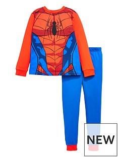 spiderman-boysnbspspidermannbspnovelty-long-sleeve-pyjamas-red