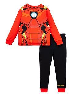 marvel-boysnbspiron-man-novelty-long-sleeve-pyjamas-red