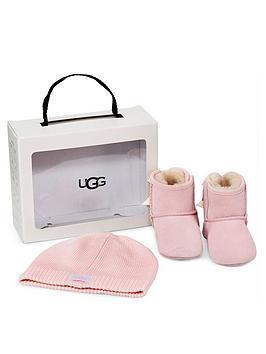 ugg-baby-jesse-bow-ii-amp-beanie-hat-pink