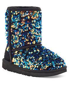 ugg-kids-classic-ii-stellar-sequin-boots-black