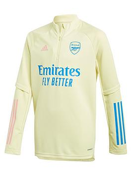 adidas-youth-arsenal-2021-warm-up-top-yellow