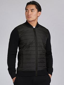 barbour-international-baffle-zip-through-knit-black