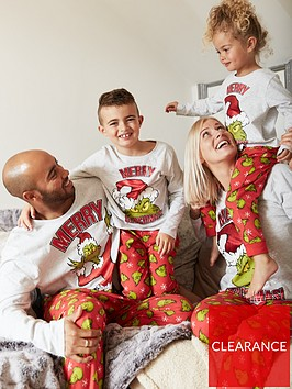 the-grinch-family-christmasnbspgrinch-pyjamas-greyred