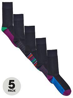 very-man-fresh-for-longer-heel-amp-toe-socks-5-pack-blacknbsp