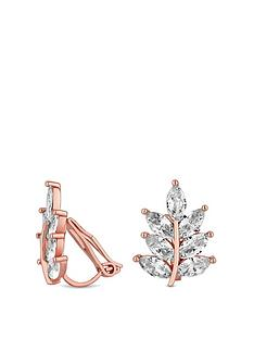 jon-richard-rose-gold-plated-leaf-clip-on-earrings