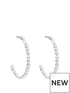 mood-silver-plated-baroque-pearl-hoop-earrings