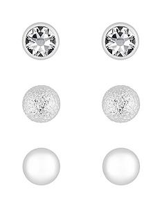 mood-silver-plated-crystal-stud-earrings-pack-of-3