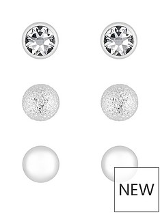 mood-silver-plated-crystal-stud-earrings-pack-of-3