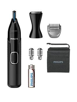 Philips Series 5000 Battery-Operated Nose, Ear &Amp; Eyebrow Trimmer Nt5650/16
