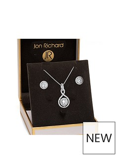 jon-richard-silver-plated-clear-crystal-infinity-set-gift-boxed