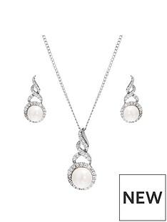 jon-richard-silver-plated-pearl-twist-halo-set-gift-boxed