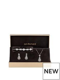 jon-richard-silver-plated-crystal-leaf-pear-trio-set-gift-boxed