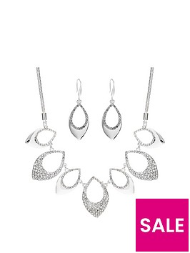 mood-silver-plated-pave-and-polish-necklace-and-earring-set