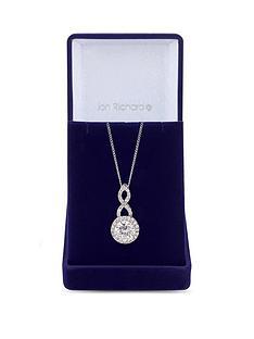 jon-richard-silver-plated-cubic-zirconia-halo-infinity-crystal-pendant-gift-boxed