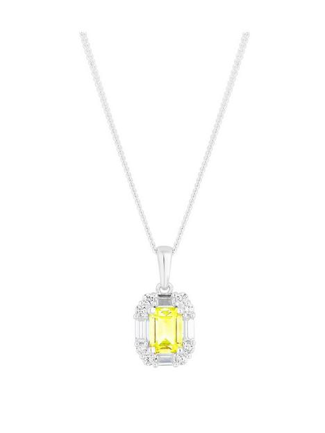 simply-silver-sterling-silver-yellow-cubic-zirconia-emerald-cut-necklace