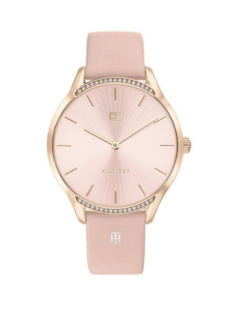 tommy-hilfiger-pink-dial-pink-leather-strap-watch
