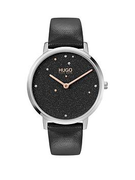 hugo-hugo-dream-black-dial-black-leather-strap-watch