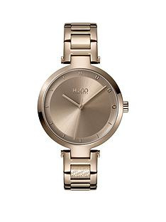 hugo-hope-taupe-dial-bracelet-watch