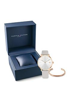 tommy-hilfiger-white-dial-leather-strap-watch-amp-bangle-gift-set