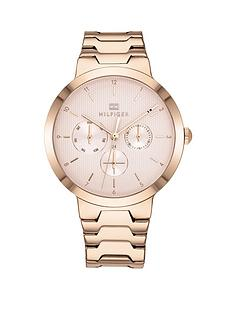 tommy-hilfiger-pink-chronograph-dial-rose-gold-tone-bracelet-watch