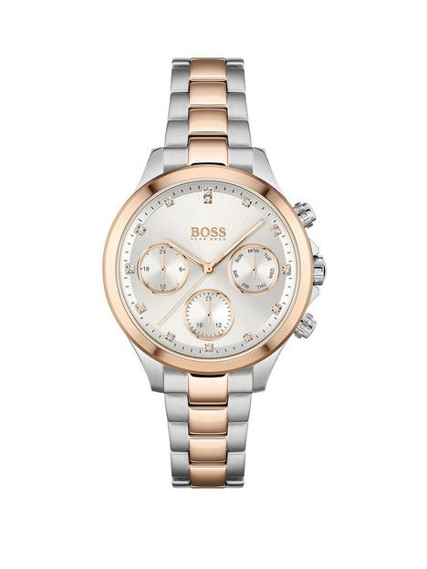boss-hera-silver-multi-dial-two-tone-bracelet-watch