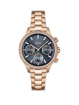 boss-hera-blue-multi-dial-rose-tone-bracelet-watch