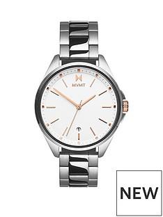 mvmt-mvmt-coronada-white-dial-stainless-steel-bracelet-watch