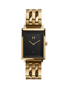 mvmt-mvmt-signature-square-black-dial-gold-tone-bracelet-watch