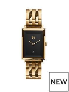 mvmt-mvmt-signature-square-black-dial-gold-tone-bracelet-watch