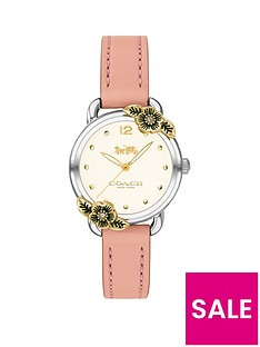 coach-coach-delancey-white-flower-bezel-pink-leather-strap-watch
