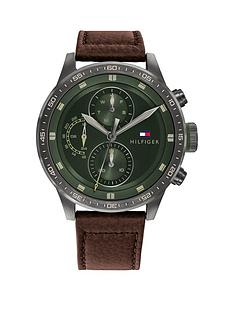 tommy-hilfiger-tommy-hiliger-green-multi-dial-brown-leather-strap-watch