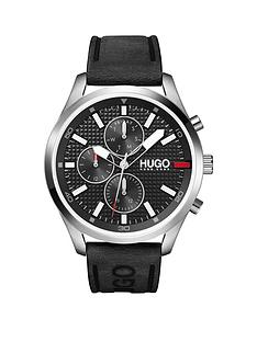 hugo-hugo-chase-black-chronograph-dial-black-leather-strap-watch