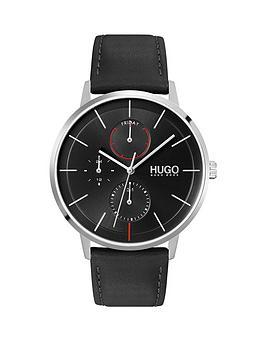 hugo-hugo-exist-black-multi-dial-black-leather-strap-watch