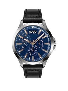 hugo-hugo-leap-blue-multi-dial-black-leather-strap-watch