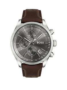boss-boss-grand-prix-grey-chronograph-brown-leather-strap-watch