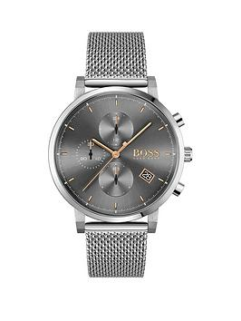boss-integrity-grey-chronograph-rose-accent-dial-stainless-steel-bracelet-watch
