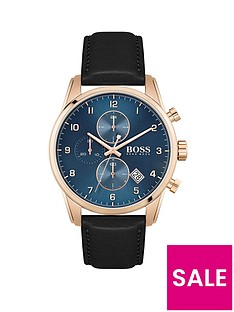 boss-boss-skymaster-blue-chronograph-dial-leather-strap-watch