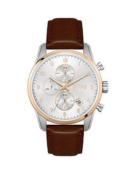boss-boss-skymaster-white-chornograph-brown-leather-strap-watch