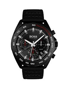 boss-boss-black-dial-chronograph-black-leather-strap-mens-watch