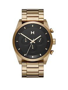 mvmt-mvmt-element-black-dial-gold-tone-stainless-steel-bracelet-watch