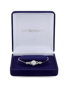 jon-richard-silver-plated-cubic-zirconia-halo-infinity-crystal-toggle-bracelet-gift-boxed