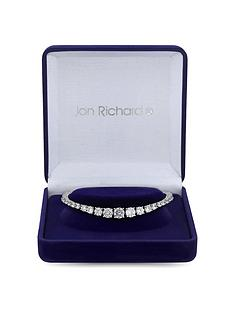 jon-richard-silver-plated-cubic-zirconia-crystal-graduated-tennis-bracelet-gift-boxed