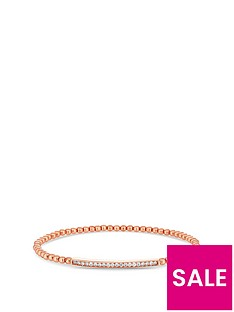 simply-silver-14ct-rose-gold-plated-sterling-silver-cubic-zirconia-bar-beaded-stetch-bracelet