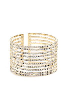 mood-gold-plated-crystal-dia-lined-cuff-bracelet