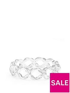 mood-silver-plated-knot-stretch-bracelet